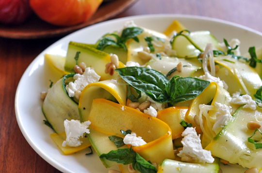 Squash ribbon salad. Image by Emily Ho, courtesy of The Kitchn