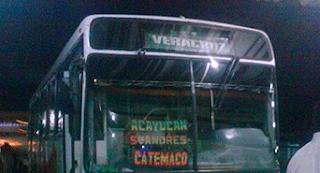 Asaltan autobus y toman de rehen a un niño en Otepan Veracruz