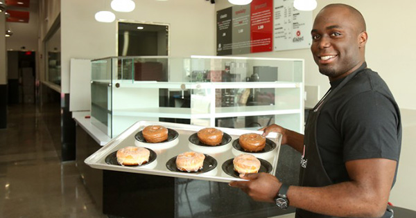 Edose Ohen, founder of Glazed The Doughnut Cafe