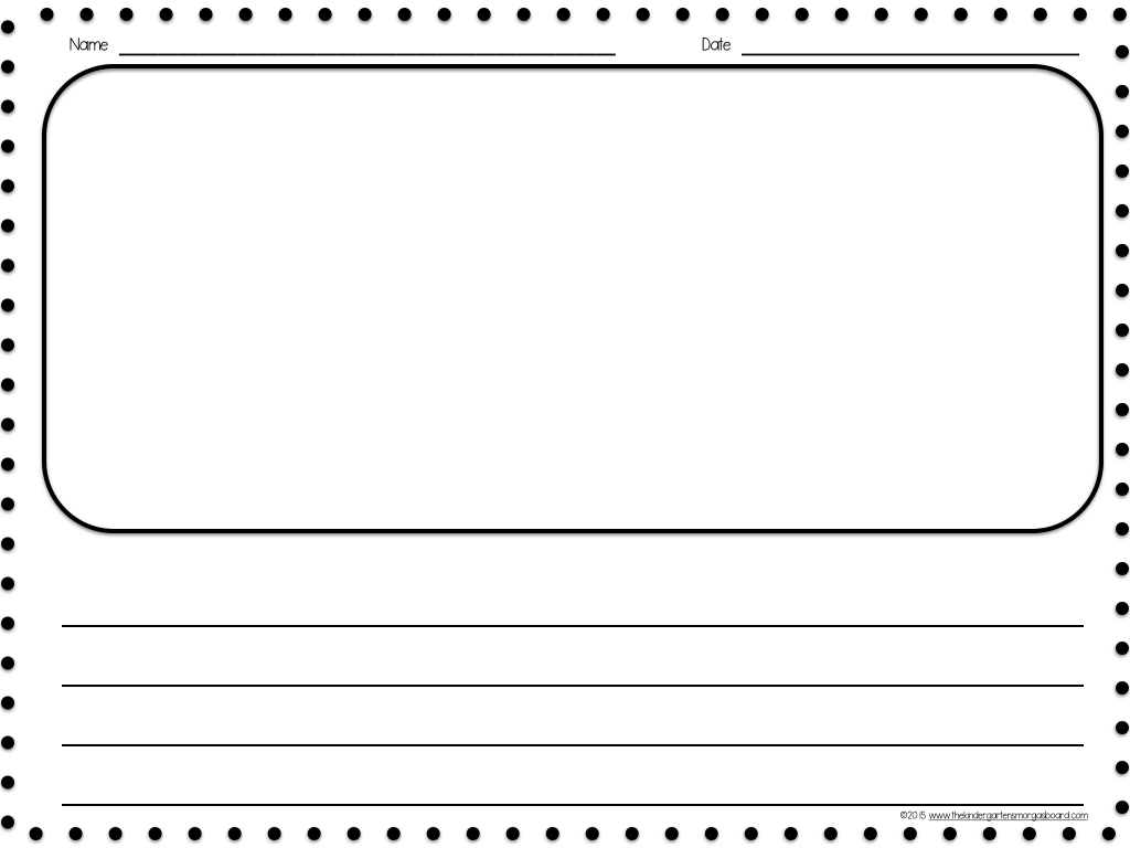 Kindergarten writing sheets blank kindergarten writing for Learning to write paper template
