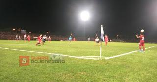 Persibo Vs Timnas U19, Babak Pertama Saling Serang