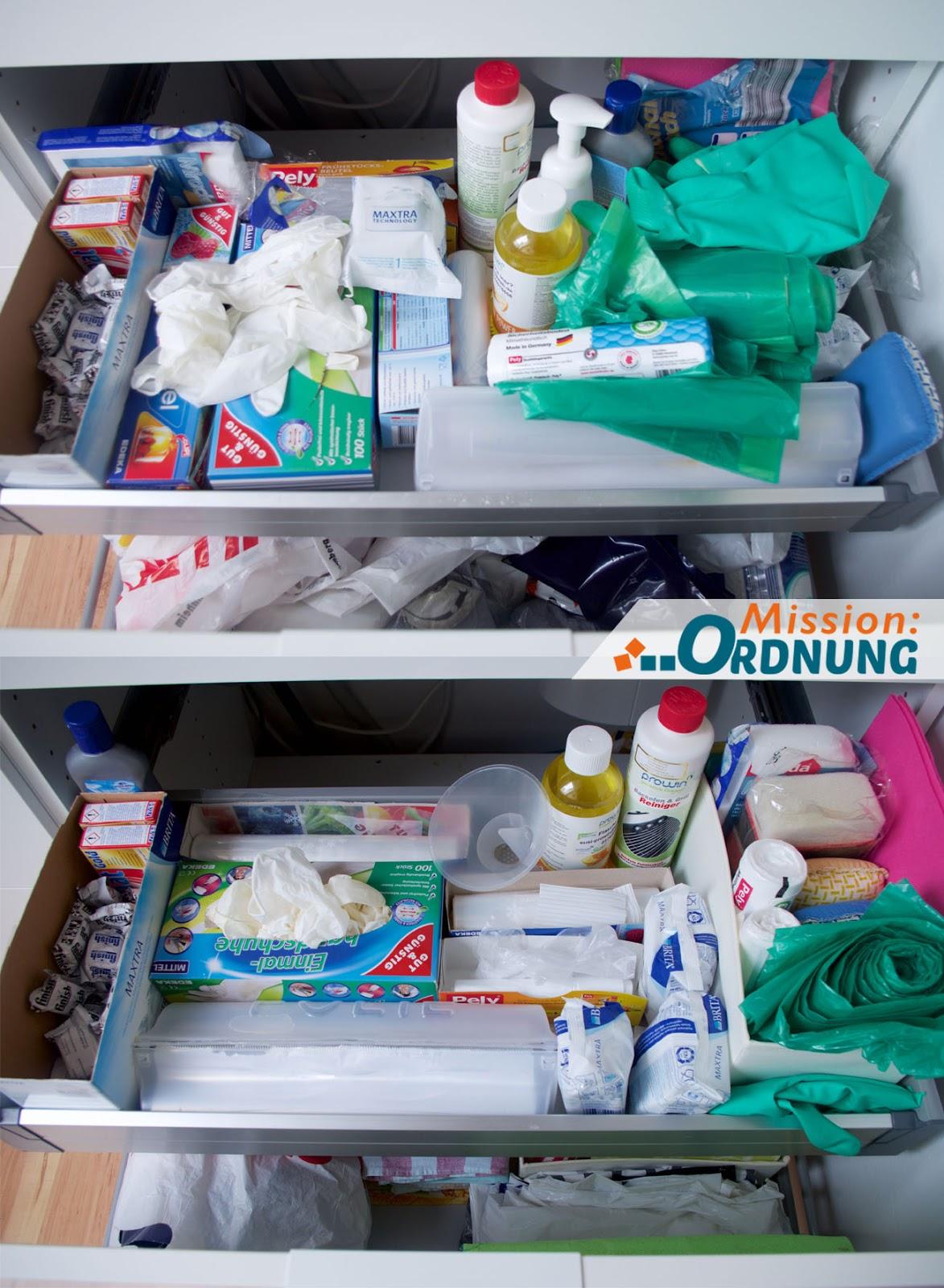mission ordnung ordnung in der k che waschbeckenunterschrank neu ordnen. Black Bedroom Furniture Sets. Home Design Ideas