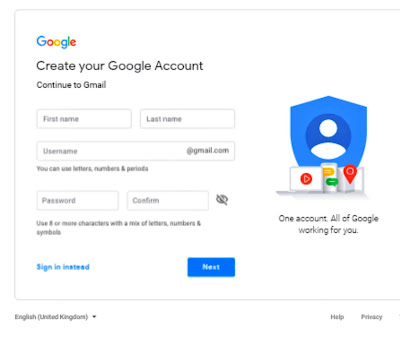 How to fill information in Gmail hindi