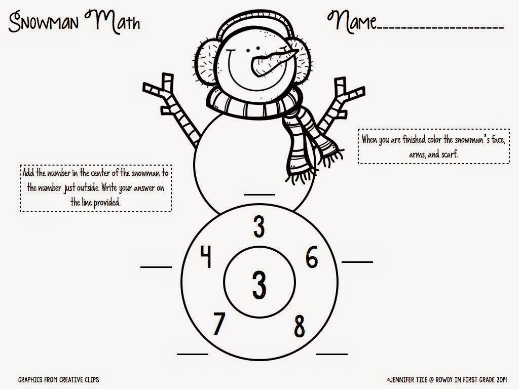 Snowman Math Races An Indoor Recess Solution