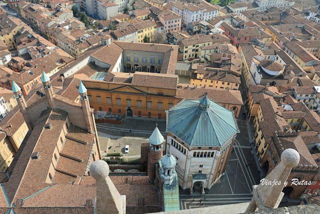 Vistas desde el Torrazo de Cremona