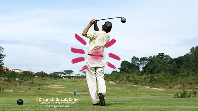 back pain during  golf