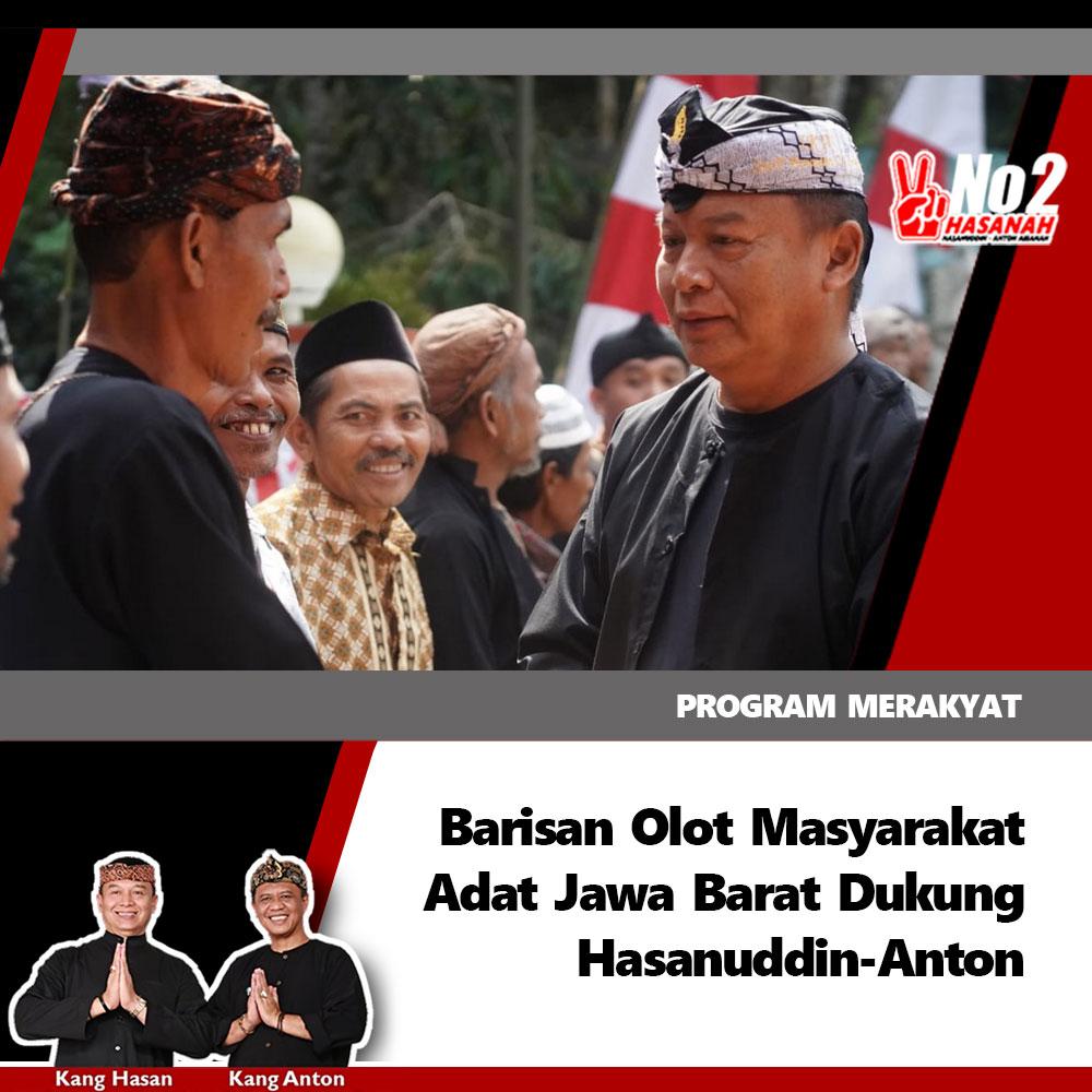Barisan Olot Masyarakat Adat Jabar Dukung Kang Hasan
