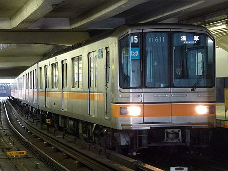 銀座線 浅草行き1 01系幕車