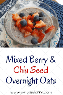 Mixed Berry and Chia Seeds Overnight Oats