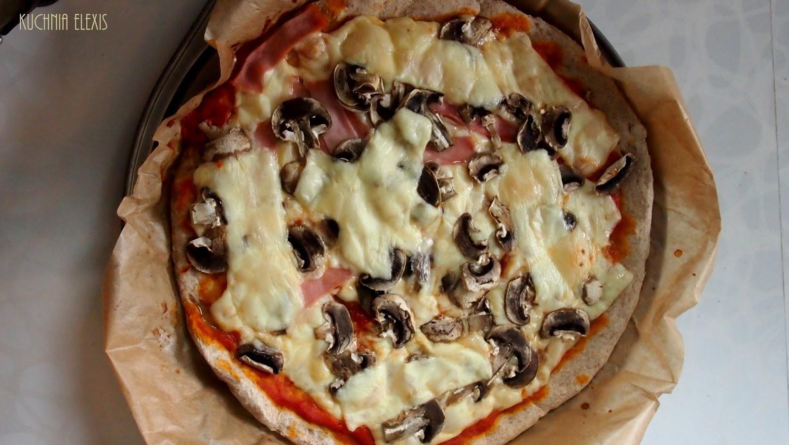 Pizza Na Mące żytniej Razowej Dietetyczna Kuchnia Elexis