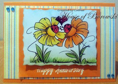 Diecut Divas, Bugaboo Flower Ladybug Love