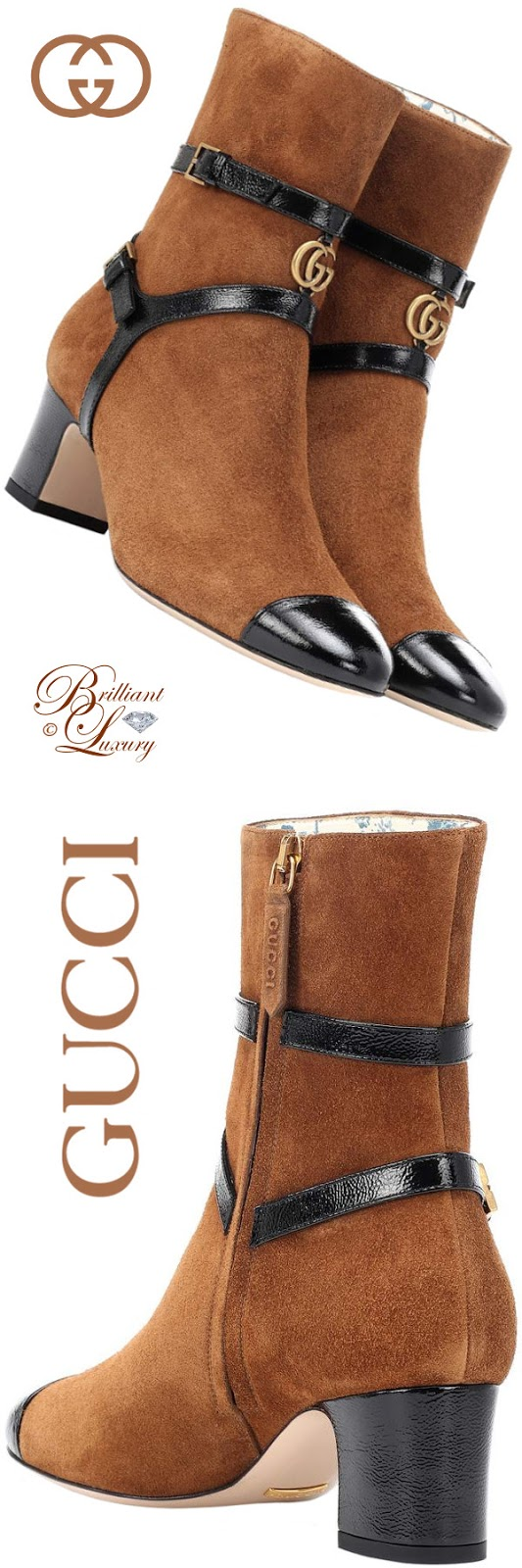 Brilliant Luxury ♦ Gucci Suede Ankle Boots