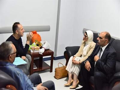 """""""برنامج علاجي"""".. تفاصيل زيارة وزيرة الصحة لـ شريف مدكور بالمستشفى"""