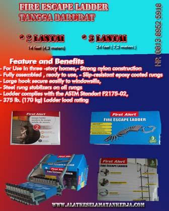 Feature Escape Ladder Tangga Darurat 2 lantai dan 3 Lantai