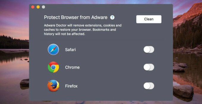 Adware Doctor anti-malware for macOS steals browser history