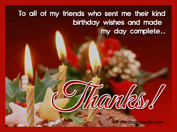 Thank You Message For Birthday Wishes On Facebook With ...