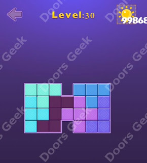 Cheats, Solutions, Walkthrough for Move Blocks Easy Level 30