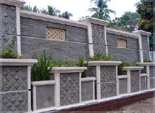 aneka desain pagar batu alam