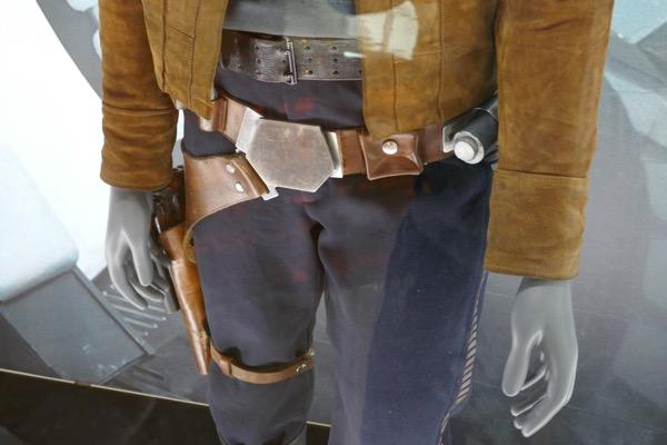 Han Solo belt holster costume detail
