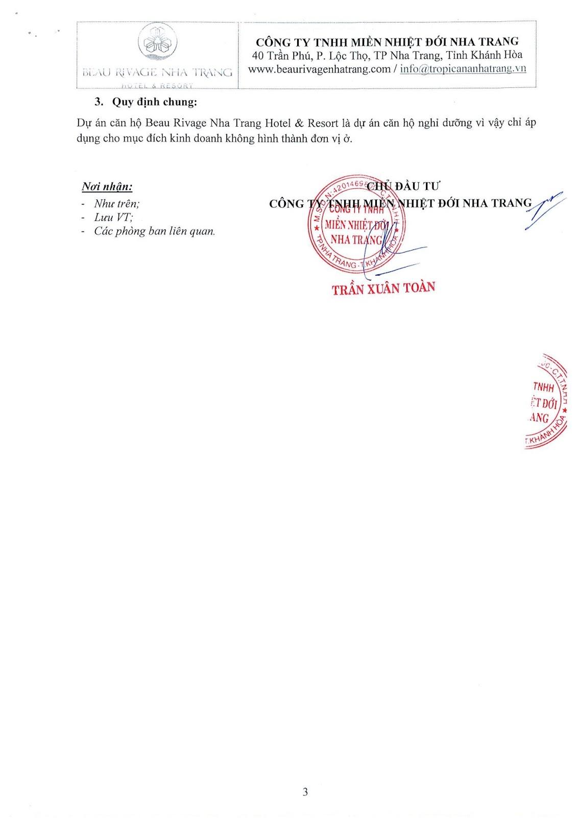 Chính sách ưu đãi khi mua Beau Rivage Trần Phú