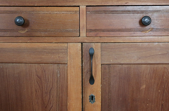 Exterior Knobs on Writing Desk After Renovation