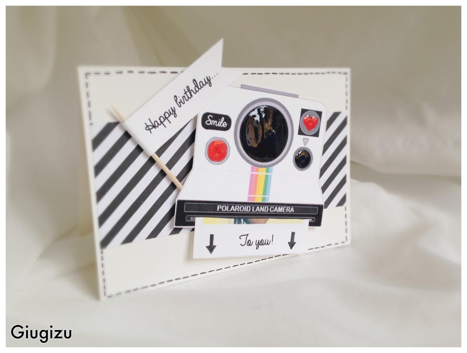 diy sliding polaroid card  biglietto fatto a mano con