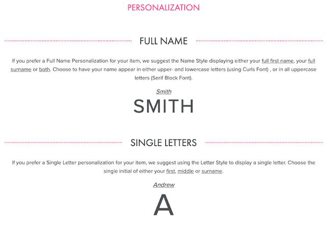 single letter personalization