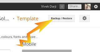 Click Backup/restore