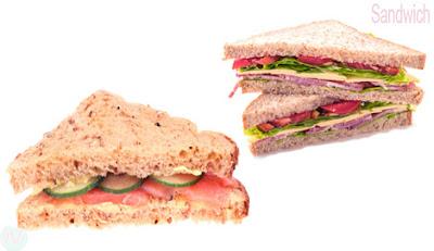 Sandwich bread, sandwich food