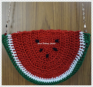 free crochet watermelon bag pattern