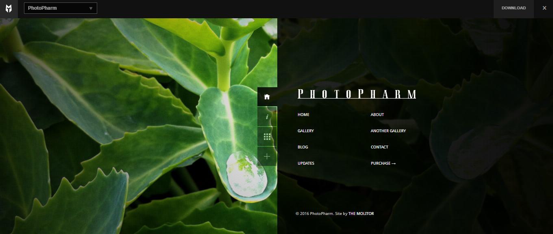 PhotoPharm WordPress Theme for portfolio photography