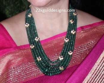 Multi Layered Emerald Beads Haram