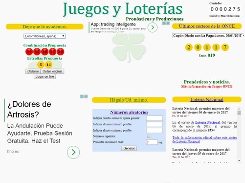 Pruebe sus suerte con las loterias