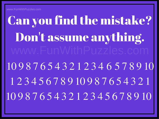 Picture Puzzle to Find Mistake