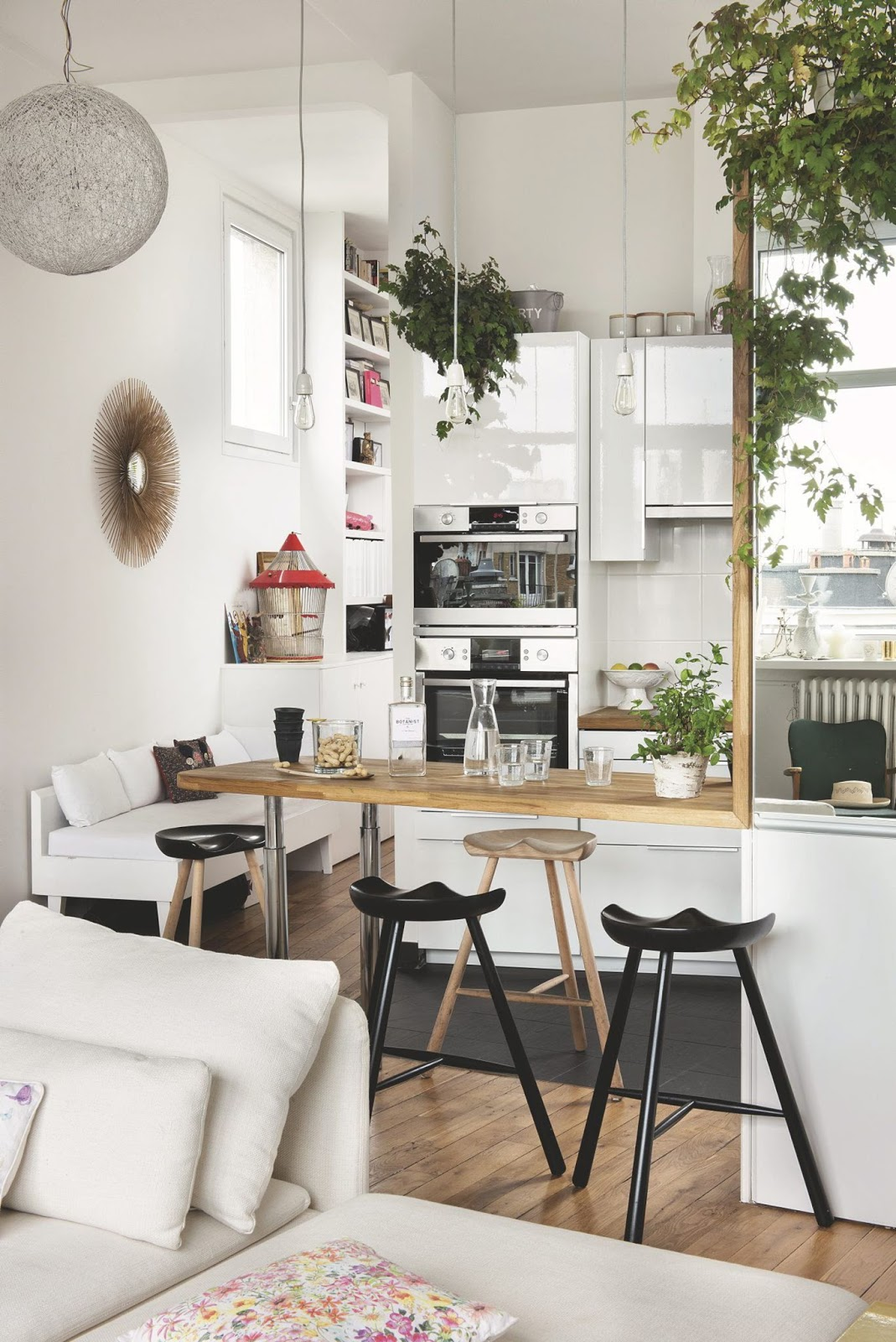 Decordemon an apartment with garden on the roofs of paris - Cuisine ouverte ...