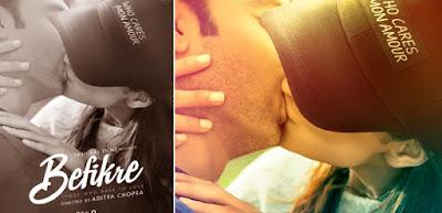 Ranveer Singh and Vaani Kapoor Lip Lock shot in film Befikre