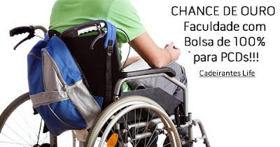 CHANCE DE OURO – Faculdade com Bolsa de 100% para PCDs!!!