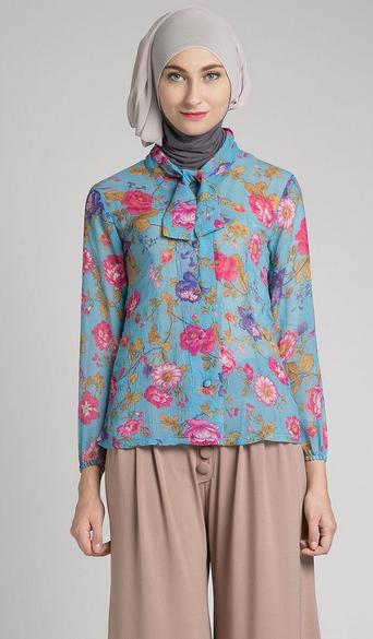 Contoh Gambar Baju Muslim Wanita Pesta
