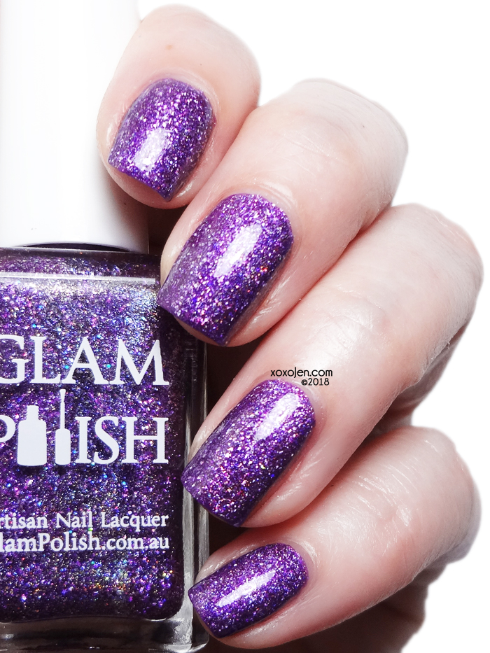 xoxoJen's swatch of Glam Polish Leave A Little Sparkle Wherever You Go!