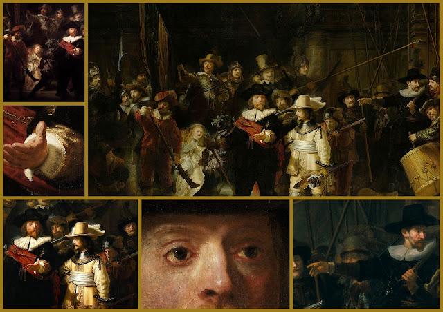 La ronda di notte, collage