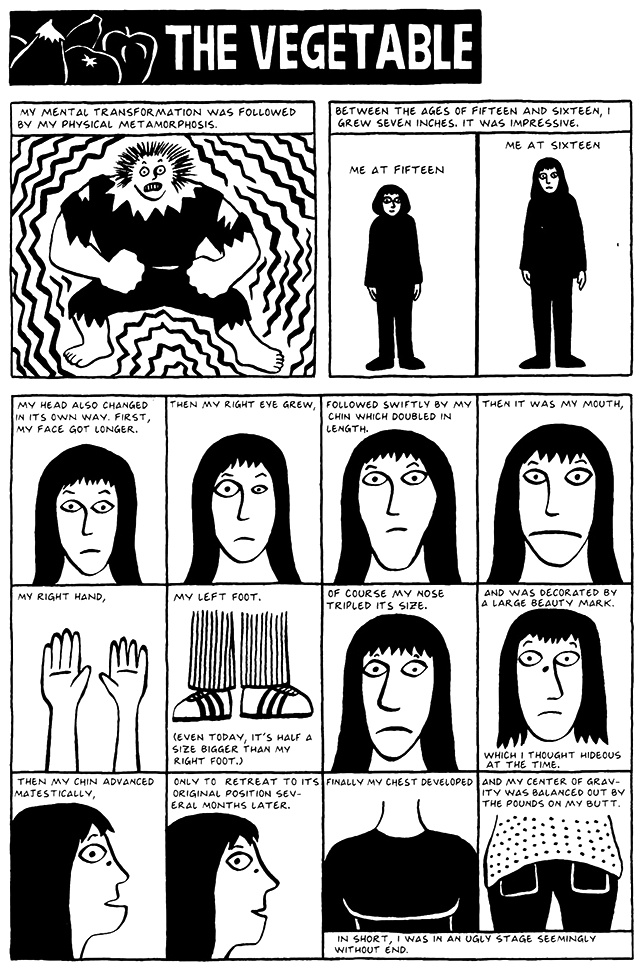 Read Chapter 5 - The Vegetable, page 35, from Marjane Satrapi's Persepolis 2 - The Story of a Return
