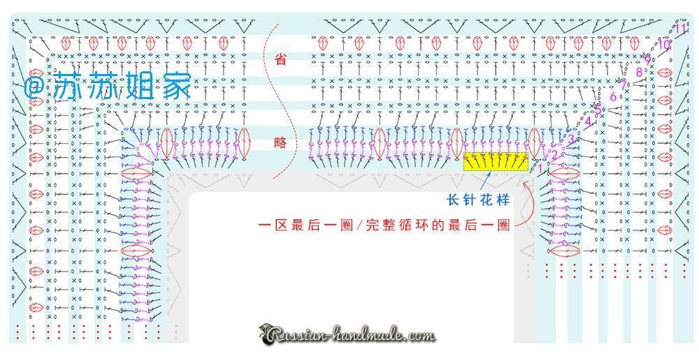 Схемы вязания пледа и подушки многоцветным узором (2)