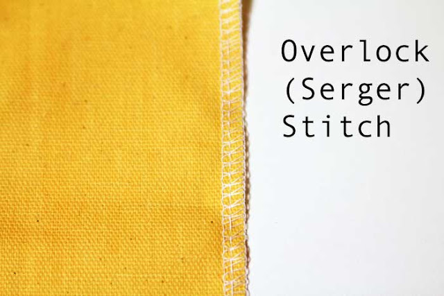 Overlock or serger stitch -  How to finish seams - Melly Sews