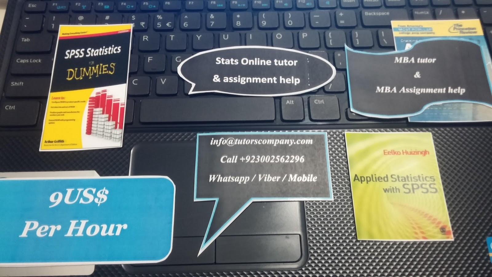 statistic tutor online