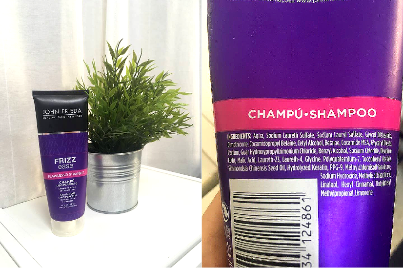 John Frieda Frizz Ease Flawlessly Straight Shampoo - REVIEW frizzy hair sleek hair