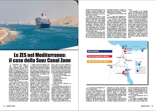 APRILE 2018 PAG. 12 - Le ZES nel Mediterraneo: il caso della Suez Canal Zone