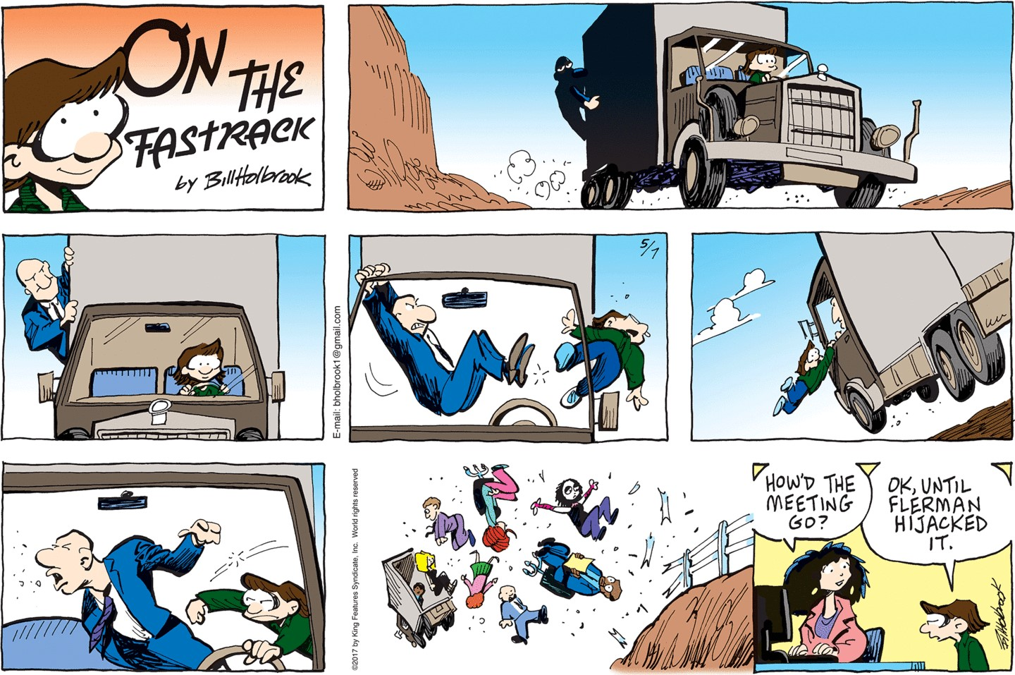 On the fastrack comic strip