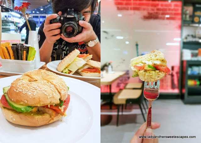 Mikel halloumi sandwich