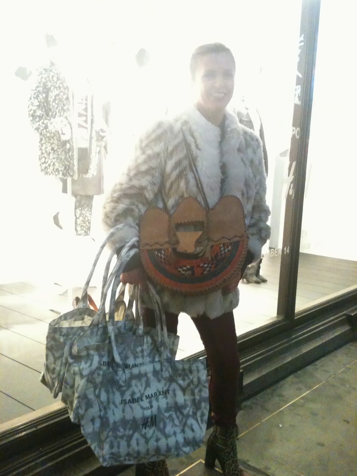 ccce8fbce7 Last night saw an exclusive shopping event preview: Isabel Marant pour H&M  collection, in London's West End. The world, and his best-dressed wife, ...