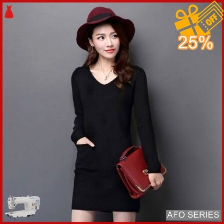 AFO592 Model Fashion Dress Vivi Poket Modis Murah BMGShop